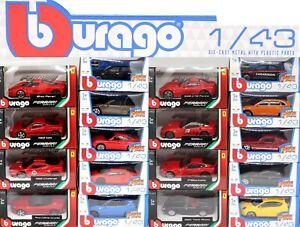 BBURAGO VARI 1:43 SCALA Diecast Auto Giocattolo per Bambini del nuovo regalo scegli la tua auto