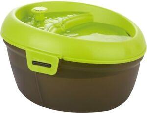 (Damaged Box) Dog H2O Pet Water Fountain | 6.3 Quart Capacity | Lime Green/Trans