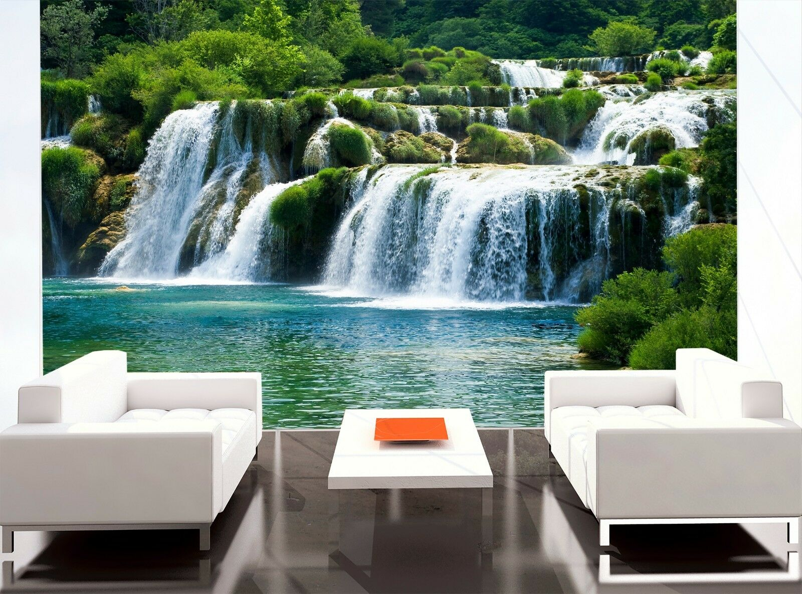 Beautiful Waterfalls   Wall Mural Photo Wallpaper GIANT WALL DECOR Free Glue