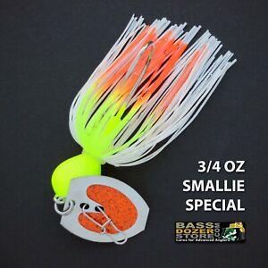 Bassdozer-BLADED-jigs-3-4-oz-SMALLIE-SPECIAL-bass-swim-jig