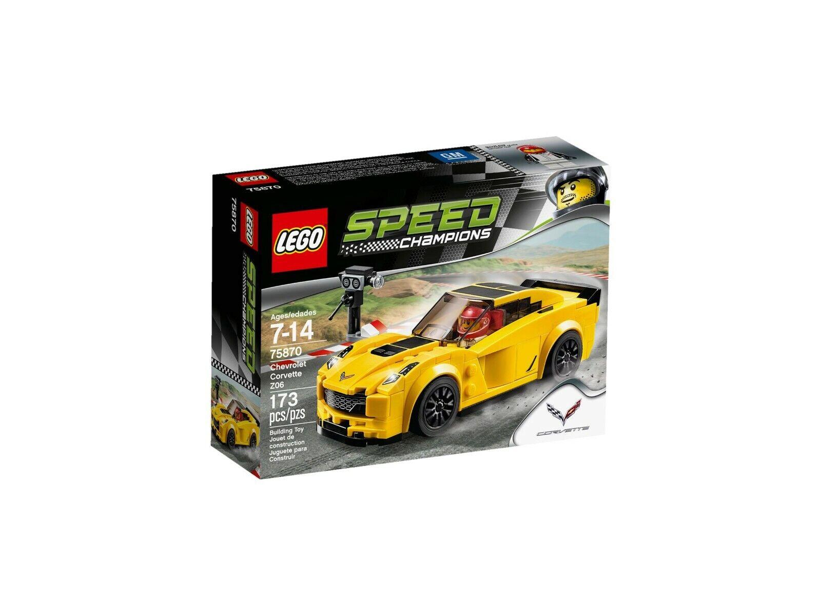 Lego Speed Campeones 75870 Chevrolet Corvette Z06 - Nuevo Emb.orig