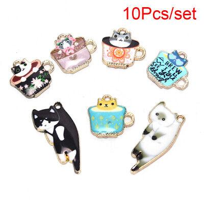 10Pcs Enamel Alloy Printing Animal Giraffe Charms Pendant Jewelry Craft MakiJB
