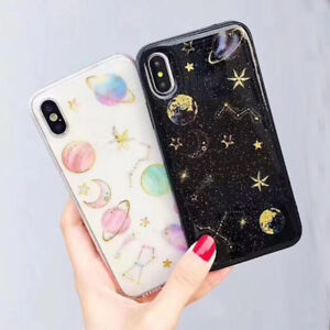 finest selection b535f b313d Details about Glitter Stars Girly Soft Silicon TPU Back Cover For Xiaomi 8  Redmi Note5 Pro