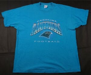 967f92d0 Rare Vintage SALEM Carolina Panthers NFL Big Logo T Shirt 90s Retro ...