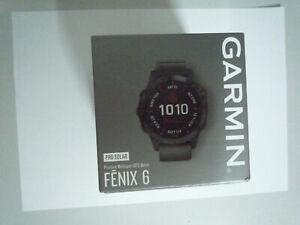 Garmin Fenix 6 Pro Solar GPS Premium Multisport Smartwatch Musik Slate Gray NEU