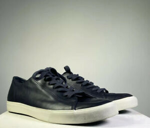 Mens Matalan Faux Leather Navy Lace Up