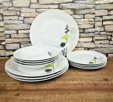 Plain White Dinner Plates Set 12 Piece Bowls Porcelain Crockery