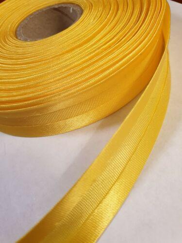 Sesgo de satén vinculante 15mm de 5//8 pulgadas de ancho x 1m en color amarillo