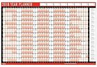 2 X 2016 A1 Laminated Yearly Wall Planner Calendar Wipe Dry Pen & Sticker Dots