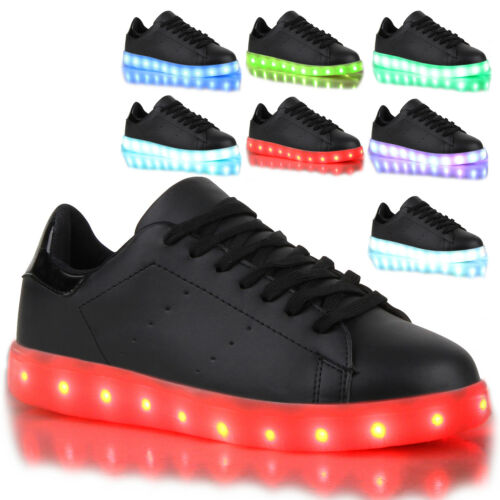 Blinkende Damen Herren Kinder Sneakers Farbwechsel Schuhe LED Licht 78811 Trendy