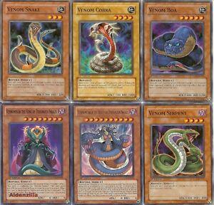 Yugioh-Venom-Deck-Vennominaga-Vennominon-Snake-Cobra-Serpent-Boa-Swamp-Reptile
