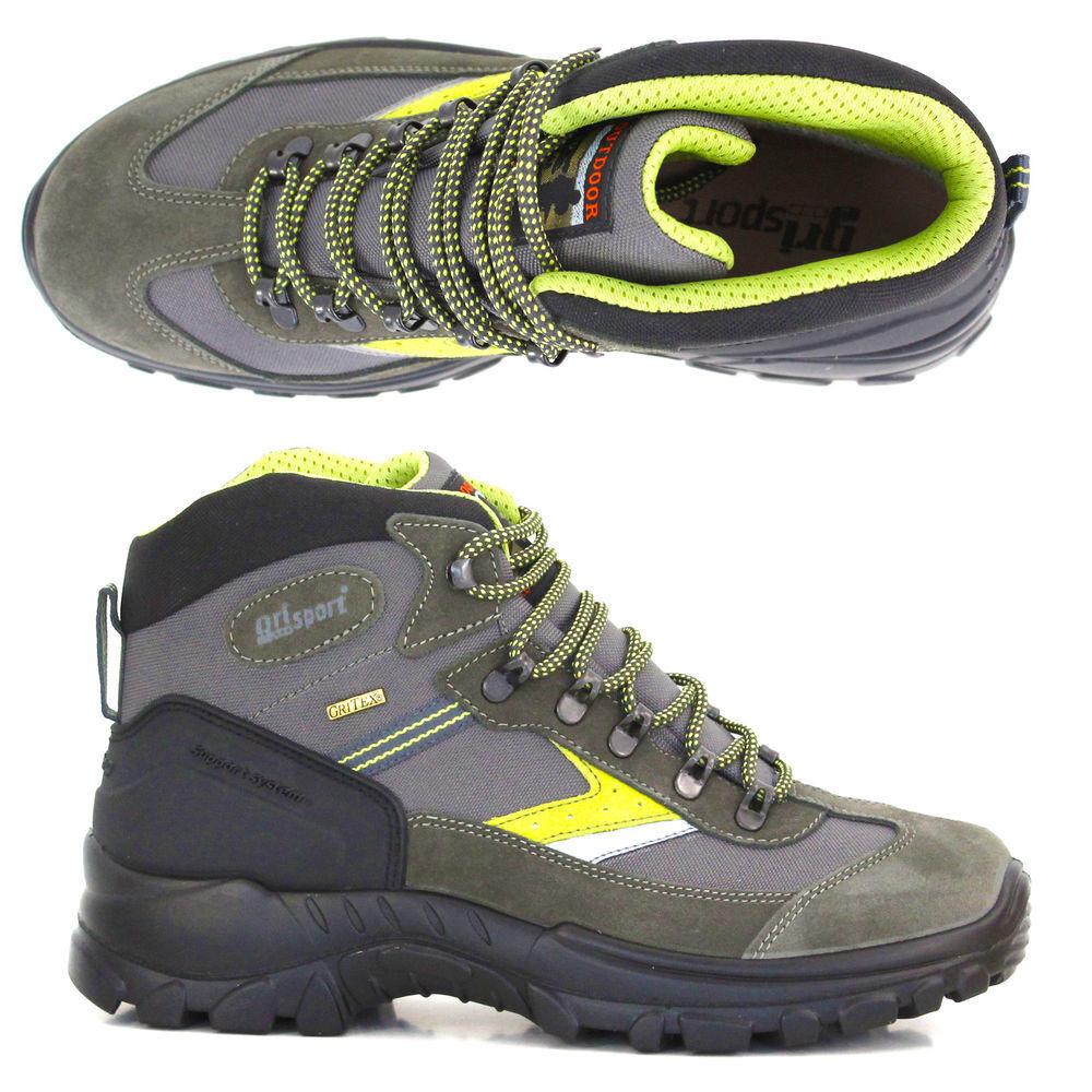 SCARPONCINO grauPORT 13316 grau scuro trekking camoscio support system