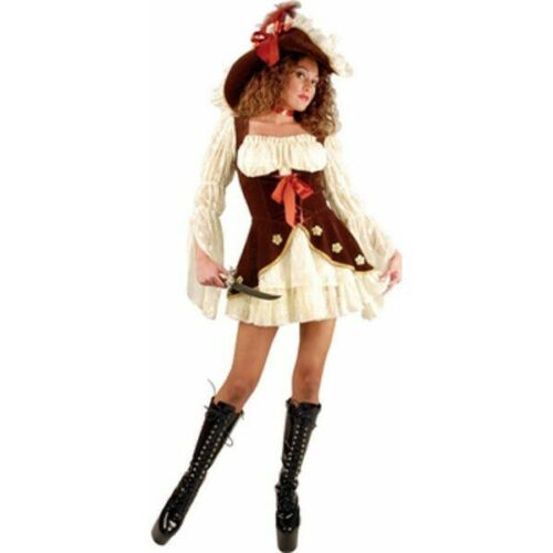 Teen Suede Lacy Pirate Costume