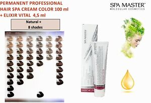 Details about PERMANENT PROFESSIONAL HAIR CREAM SPA COLOR 100ml SPA MASTER  - NATURAL PLUS