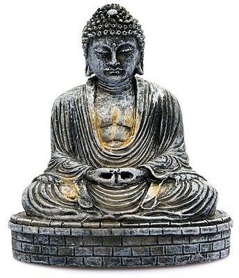 Sitting Desktop Buddha Ornament/Buddhist Statue/Home Stocking Filler Gift Garden