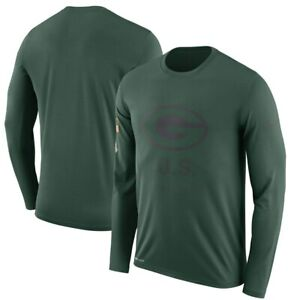 f3303ea75 NIKE GREEN BAY PACKERS NFL MENS 2018 SALUTE TO SERVICE PERFORMANCE ...