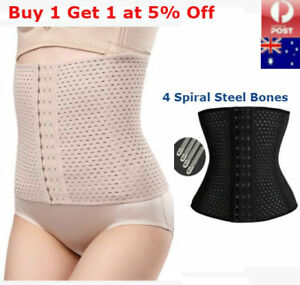Waist-Trainer-Body-Shaper-Steel-Boned-Training-Tummy-Cincher-Corset-Bustier-Slim