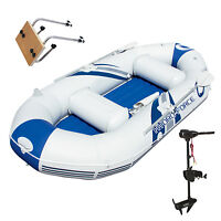 Bestway Hydro-force Marine Pro Inflatable Boat / Raft With Motor Mount & Motor on sale