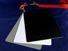 "3-in-1 18% Gray White Black Card Set White Balance / EV Grey Color 5"" x 7"""
