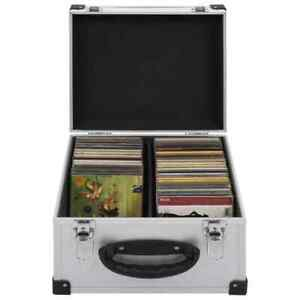 vidaXL CD Case for 40 CDs Aluminium ABS Silver Storage DISC Box Record Holder