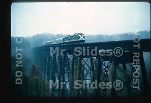 Original-Slide-SOU-Southern-Ry-FP7A-6146-amp-FP7A-Passenger-Action-In-1976