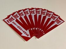 Lot Of 25 Self Adhesive Vinyl Fire Extinguisher Arrow Signs4 X 12 New