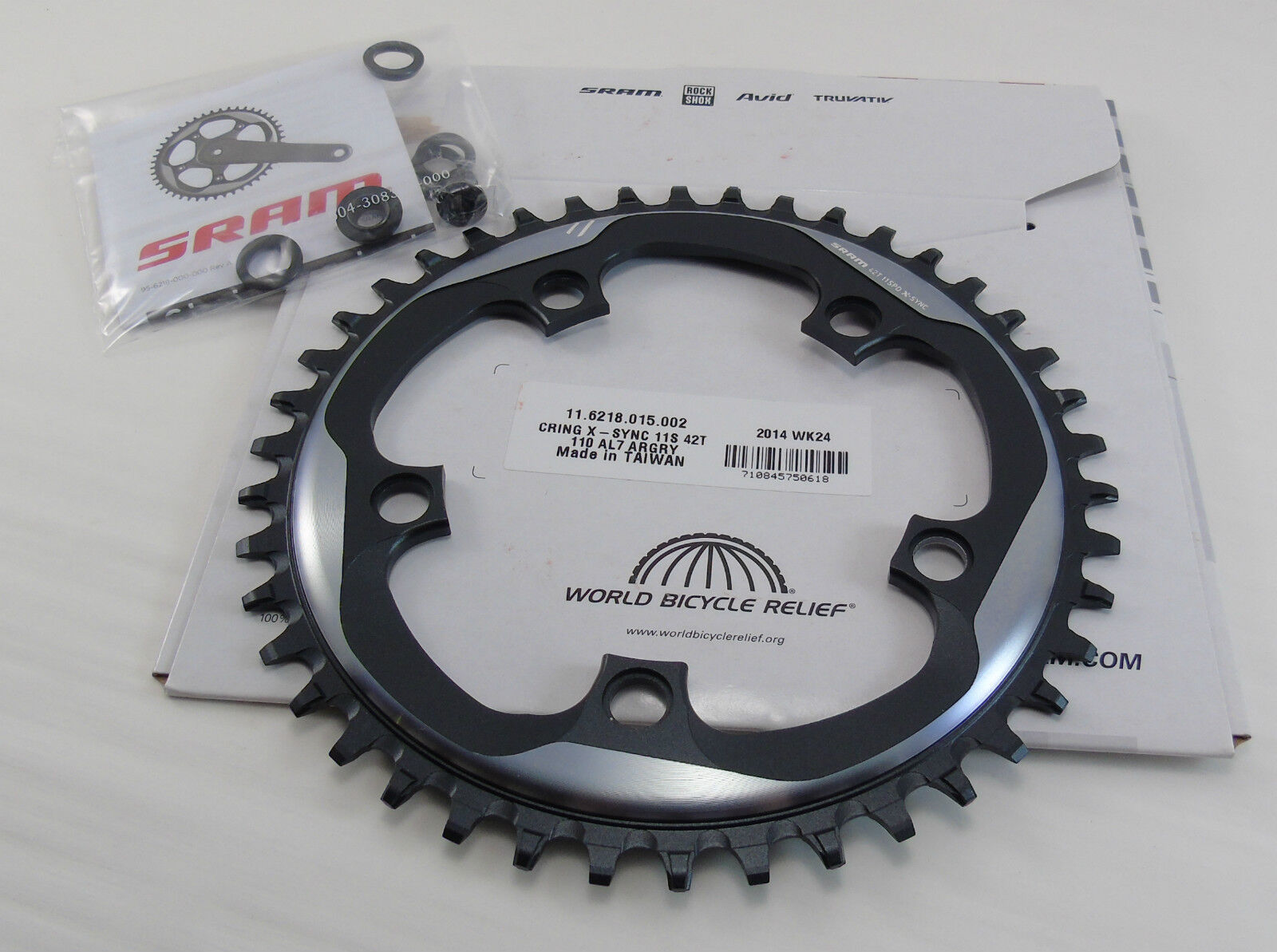 Genuine Sram X-Sync Chainring, 42T, 11 Speed,  110 BCD,  Brand New  2018 store