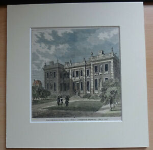 c1840-Engraving-A-1710-View-of-Marlborough-House-St-James-London