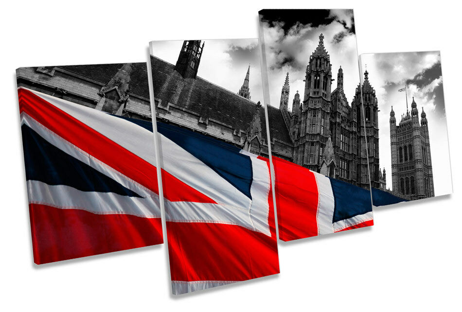 Houses of Parliament London MULTI CANVAS Wand Kunst Boxed Framed