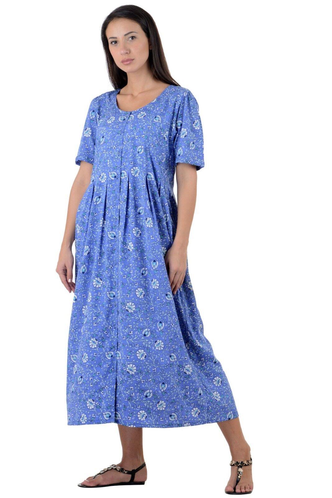 Cotton Lane Lane Lane Wrinkle-resistant Printed Dress D48blueE-PTD 5aff65