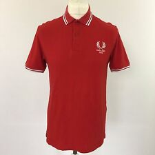 Fred Perry Red & White Limited Edition England World Cup 2010 Polo Shirt Top, M
