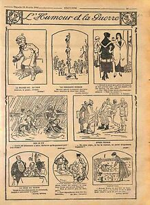 Humour-Kaiser-Guillaume-Tommies-Periscope-Equilibriste-Poilus-Feldgrau-WWI-1916