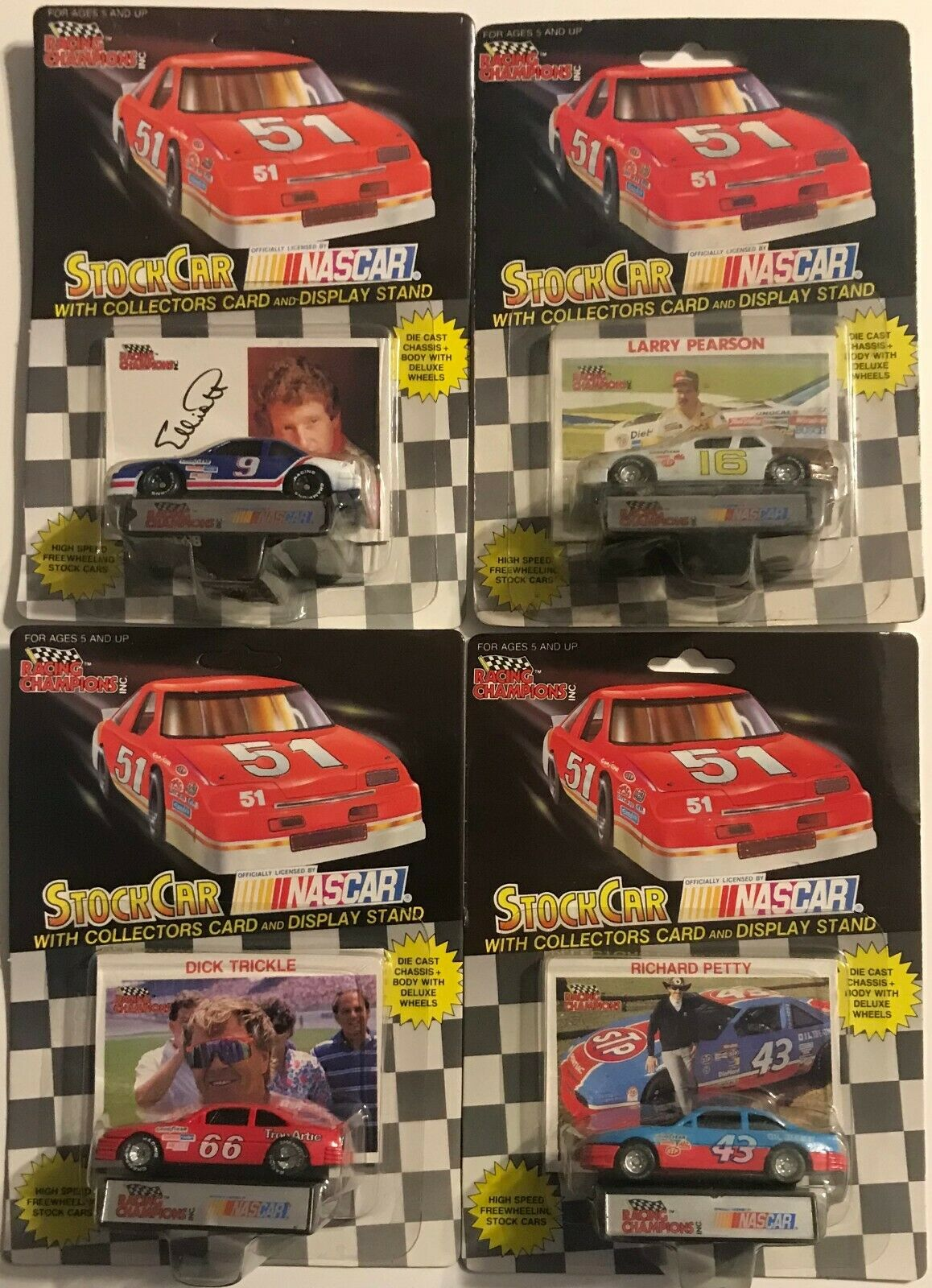 LOT OF 20 DIFFERENT 1 64th Racing Champions Nascar Race Cars 80'S & 90'S      4