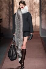 Marni Runway 2013 Black Leather And Fur Handbag/ Satchel. Brand New.  NICE BAG!