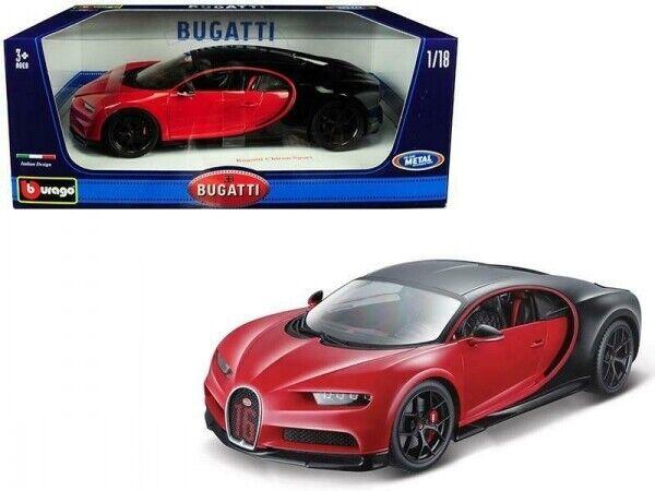 1:18 Bburago  *NEW* Bugatti Chiron rot//schwarz