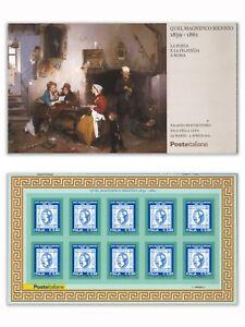 Italy-2011-Quel-Magnifico-Biennio-1859-1861-Stamp-Expo-Booklet-Self-adhesive-MUH
