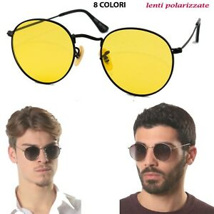 Occhiali-Sole-17018-Round-Metal-Sun-Lovers-vintage-polarizzate-sfumate