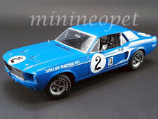 ACME EXCLUSIVE 12987 1968 FORD SHELBY MUSTANG #2 1/18 DAN GURNEY BLUE