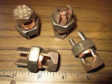 Tampb Bronze Alloy Split Bolt Connectors Equal Main Tap 10 4 Sol Copper Wire
