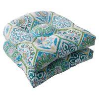 Outdoor 2-piece Wicker Seat Cushion Set - Medallion