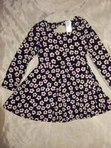 9eebf726bb NWT ~ THE CHILDREN S PLACE black white pink floral knit dress ...