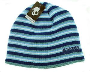 Skullcandy-Hyperion-Audio-Speaker-Beanie-Hat-Blue-Stripe-Brand-New