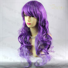 Wiwigs Lovely Long Curly Purple Mix Cosplay Party Hair Ladies Wig