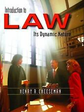 Introduction to Law : Its Dynamic Nature by Henry R. Cheeseman (2004,Hardcover)