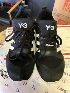 Adidas Y 3 Yohji Yamamoto Zapatos tenis de cuero Negro para