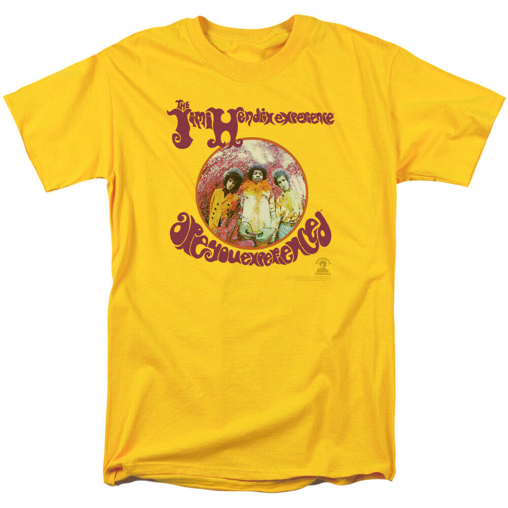 Jimi Hendrix Are you Experienced Yellow T Shirt New Official Adult Album Art