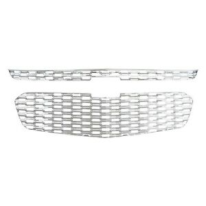 034-Snap-On-034-Chrome-Grille-Overlay-FITS-2014-2015-Chevy-Malibu-2-Pieces-Set