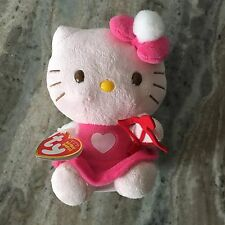 TY HELLO KITTY BEANIE BABY IN CUPID ANGEL COSTUME - MINT with NEAR PERFECT TAG