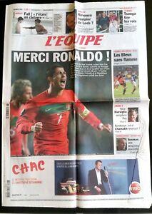 L-039-Equipe-Journal-16-11-2011-Merci-Ronaldo-Portugal-Bosnie-France-Belgique
