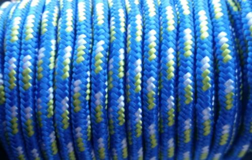 ¡¡¡OFERTA 2x1!! 2 metros de cordón montaña nautico 5mm color AZUL-VERDE